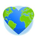 Immagine di un globo e di un cuore